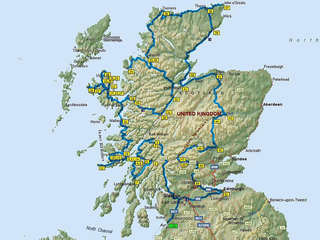 Scozia Cartina Stradale.Cartina Stradale Della Scozia Mappa Della Scozia Mappe Geografia